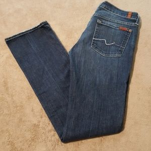 """7 For All Mankind Straight Jeans. Size 27"""" Waist."""